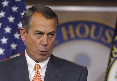 House Speaker John Boehner holds a news conference at the U.S. Capitol in Washington March 21, 2013.Credit: Reuters/Gary Cameron